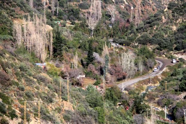 Cordilheira dos Andes - O começo das curvas para chegar às estações de esqui