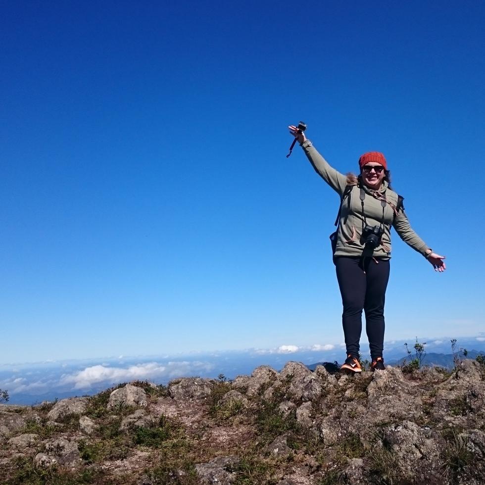 No topo da Pedra Redonda, Monte Verde/MG