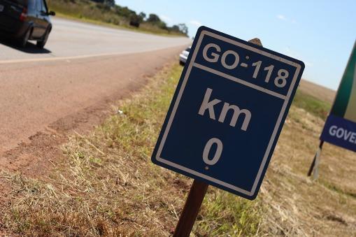 GO-118 - A divisa do Distrito Federal e Goiás