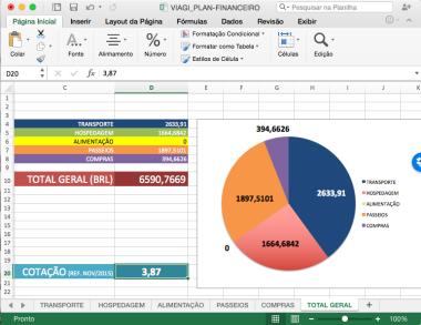 Planilha - Planejamento Financeiro Viagem