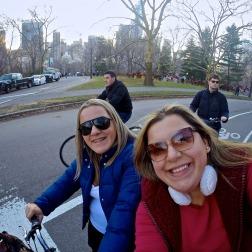 Começando a pedalada no Central Park