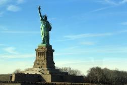 A Estátua vista do ferry