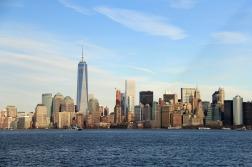NYC vista da Ilha Elis