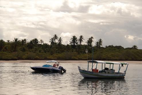 Entardecer na Boca da Barra com o Rio do Inferno