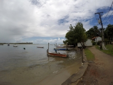 Velha Boipeba nas proximidades do ancoradouro