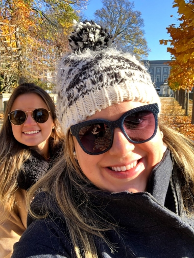 Larissa e eu no Parque de Bruxelas