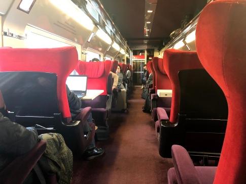 O confortável trem da Thalys